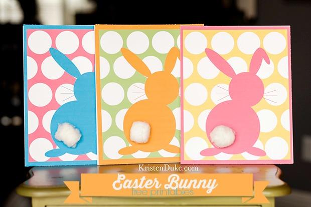 easter bunny free printable at www.KristenDuke.com