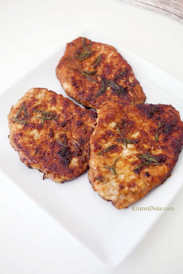 ginger rosemary pork chops