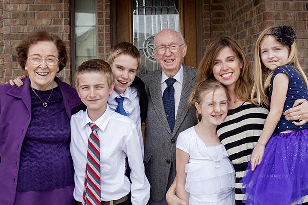 great grandparents visit