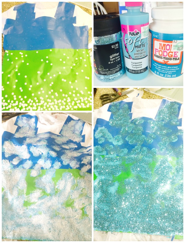 how to make glitter polka dot shirt by KristenDuke.com