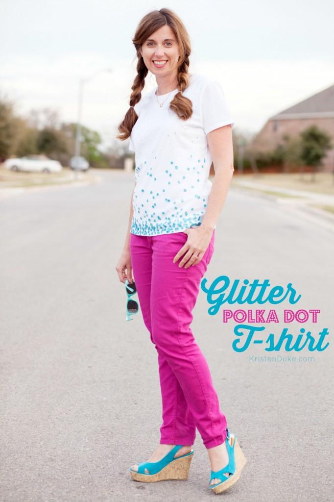 polka dot glitter t-shirt by KristenDuke.com