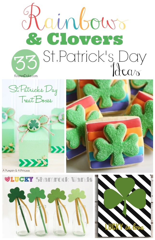 rainbows and clovers st. patricks day ideas