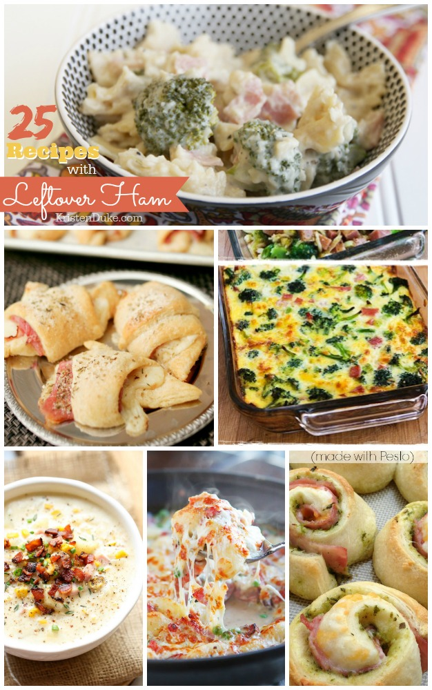 25 recipes with leftover ham KristenDuke.com