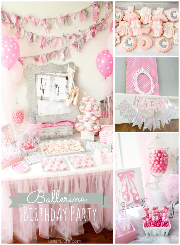Ballerina Birthday Party by KristenDuke.com