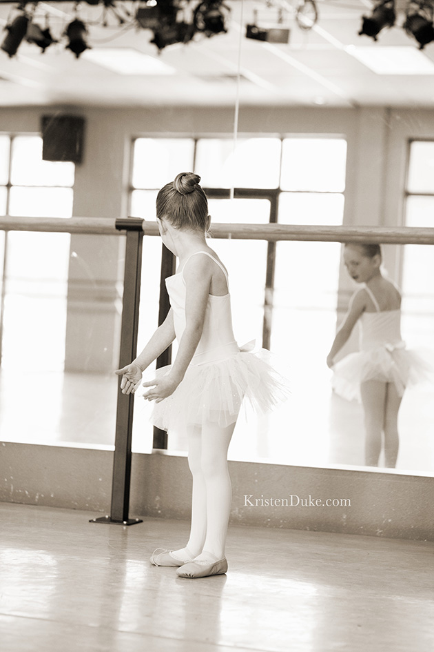 Dancing in a ballet studio