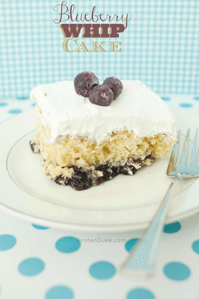 Blueberry Whip Cake