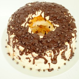 Boston Cream Cake by KristenDuke.com. This decadent cake is assembled in under 10 minutes