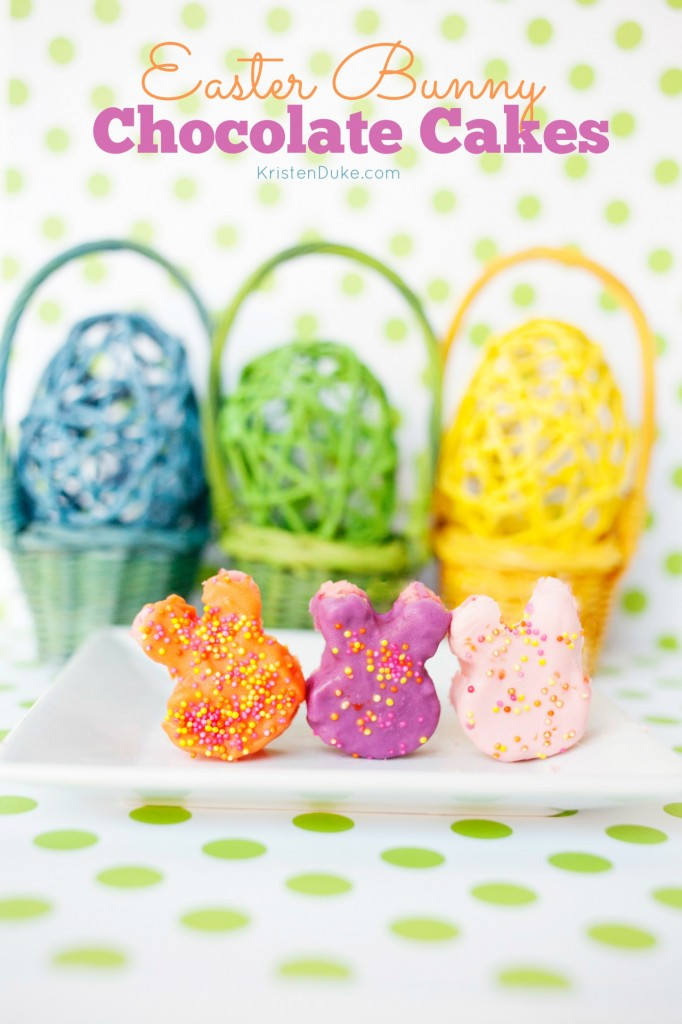 Easter Bunny Chocolate Cakes