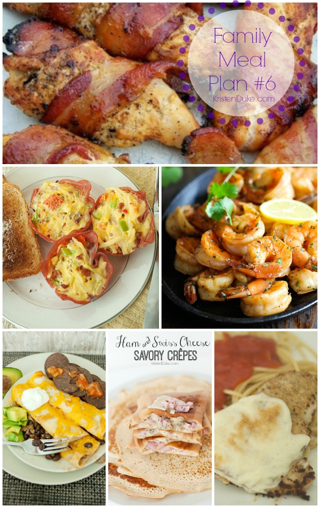 Family Meal Plan #6 by KristenDuke.com