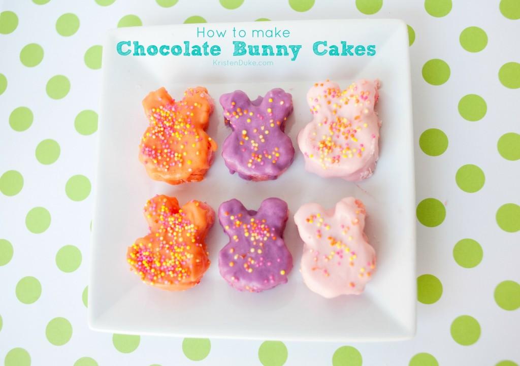 How to Make Chocolate Bunny Cakes