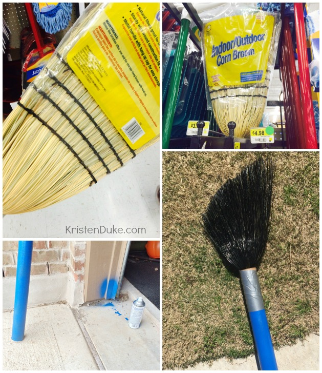 How to make a giant paint brush out of a broom