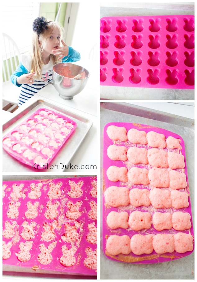 Making bunny cakes