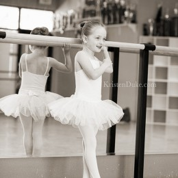 Pictures of a ballet dancer in her tutu