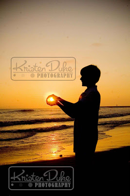 Pictures at sunset at the beach