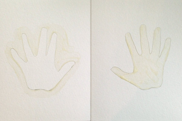 Easy Watercolor Handprints  | Teal & Lime for KristenDukePhotography.com