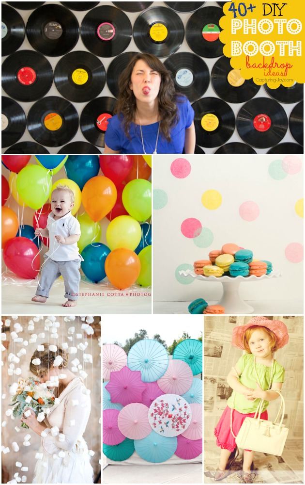 photo booth background ideas for spring - 40 DIY Booth Backdrop Ideas