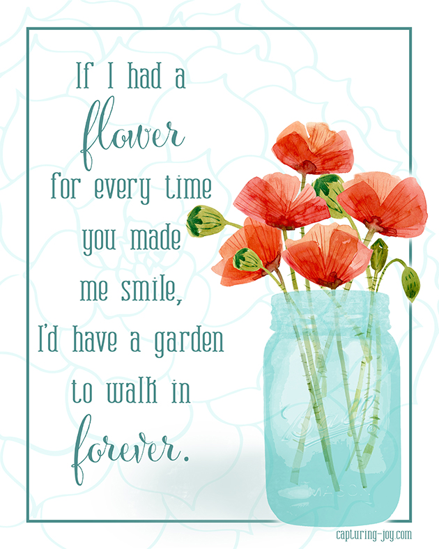 image about Printable Mothers Day Quotes named Flower within just my Backyard
