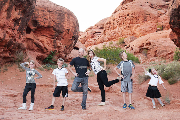 Silly Family Pictures at Red Rock