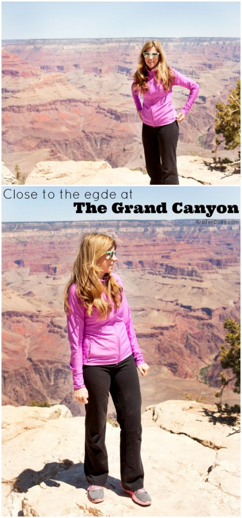 Standing close to the edge at the Grand Canyon