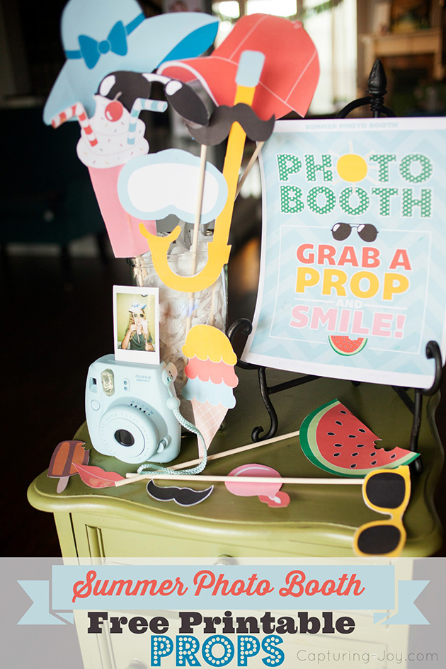 Summer Photo Booth Props