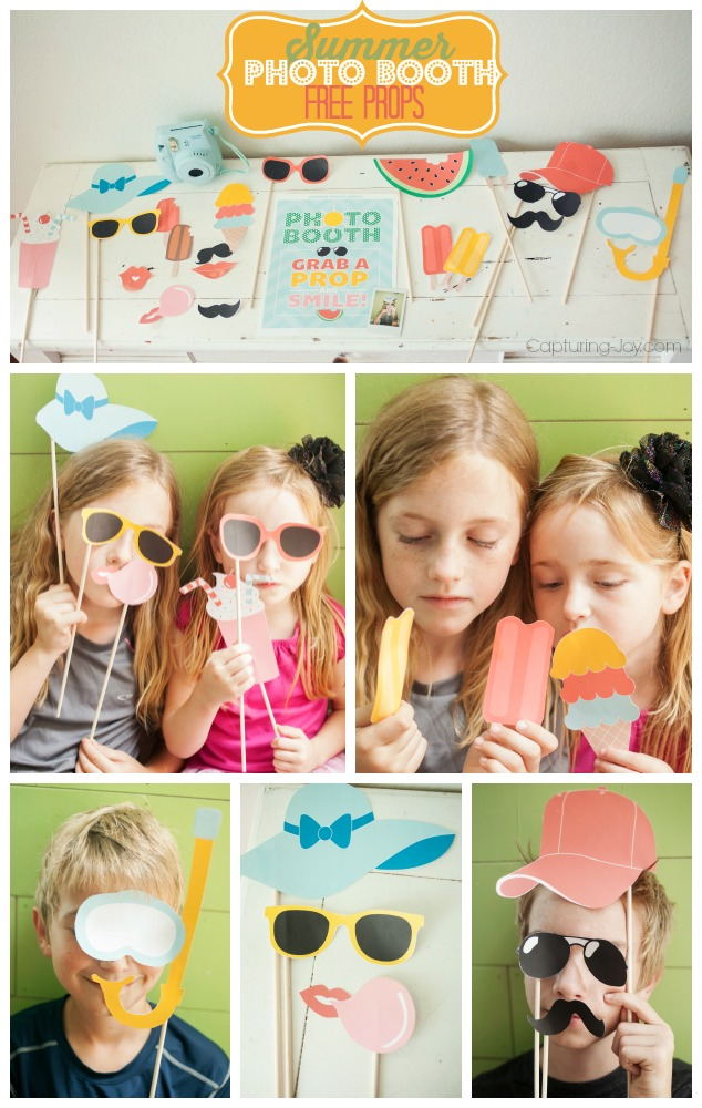 Summer Photo Booth Free Props