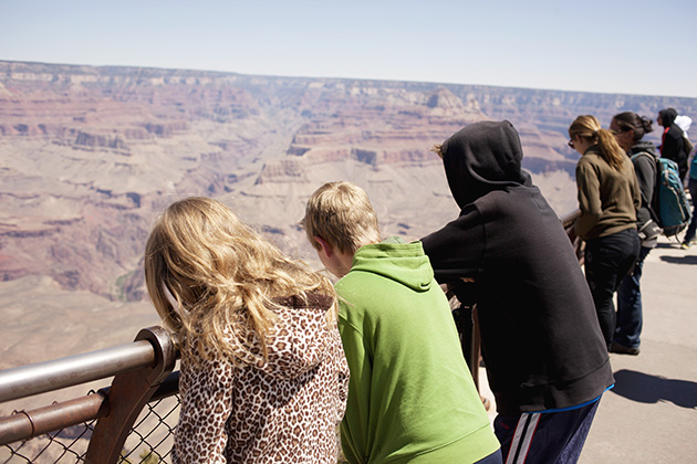 checking out the grand canyon for the first time