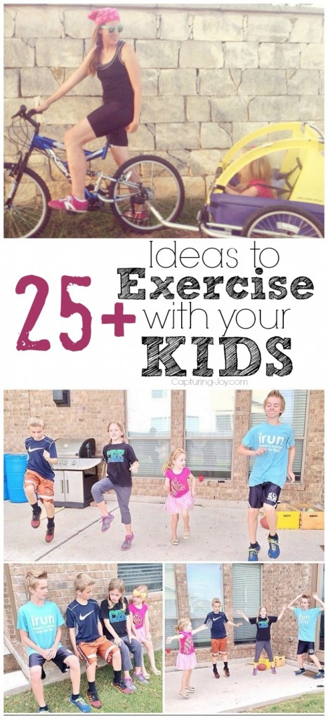 Exercising with kids for workout