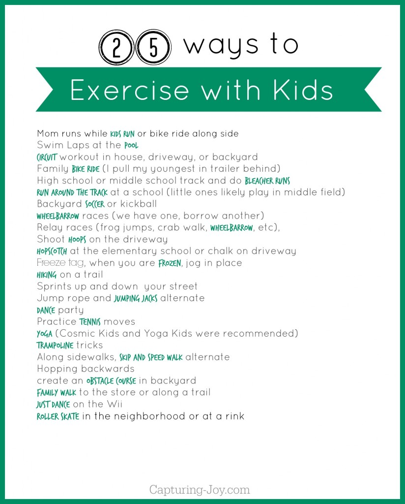 free printable - Exercise Pictures For Kids