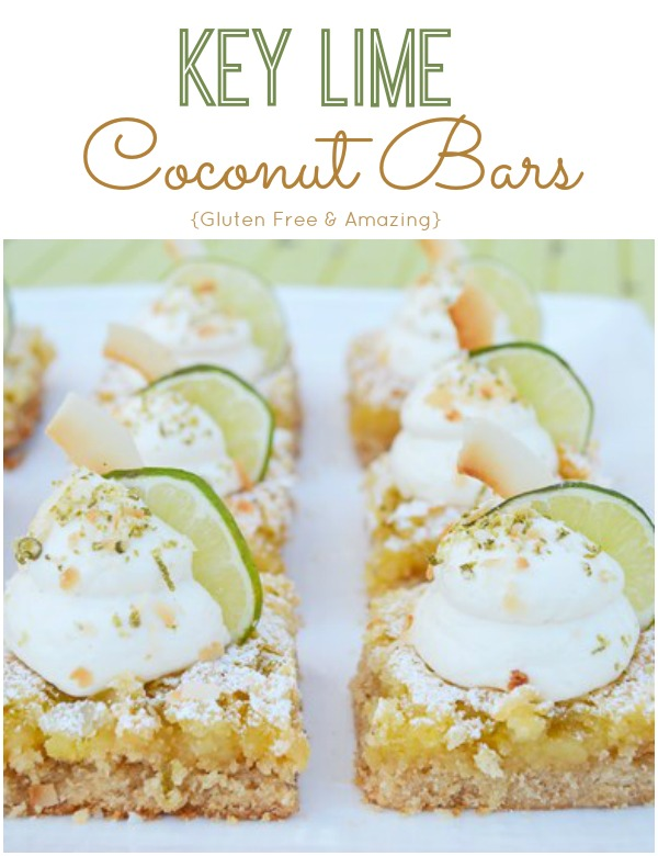 Gluten Free Key Lime Coconut Bars