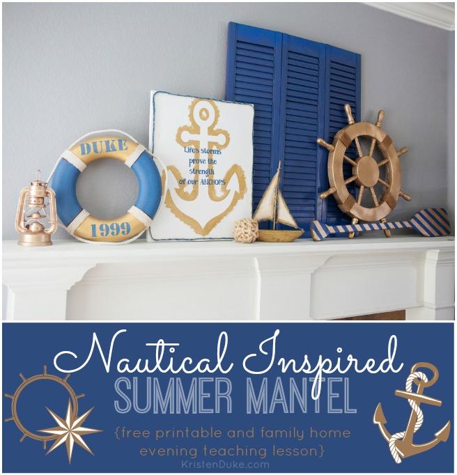 Nautical Inspired Summer Mantel Anchor Art