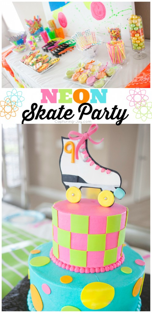 Enjoyable Neon Skate Birthday Party Personalised Birthday Cards Petedlily Jamesorg