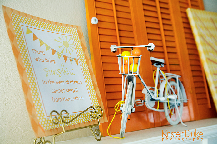 Orange and yellow sunshine summer mantel