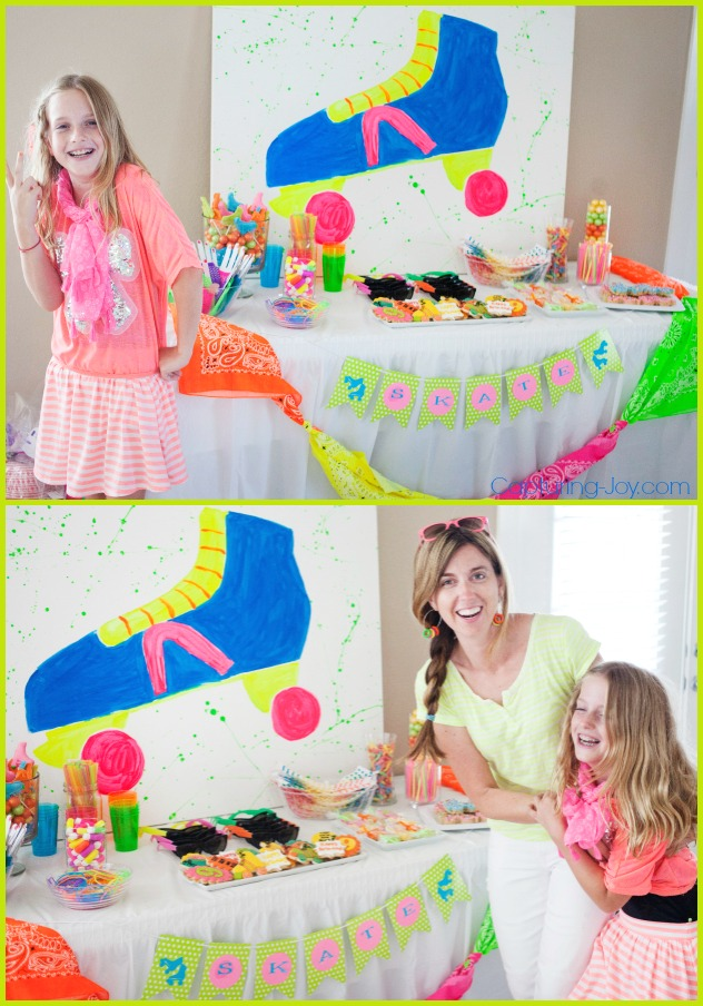 Neon skate birthday party