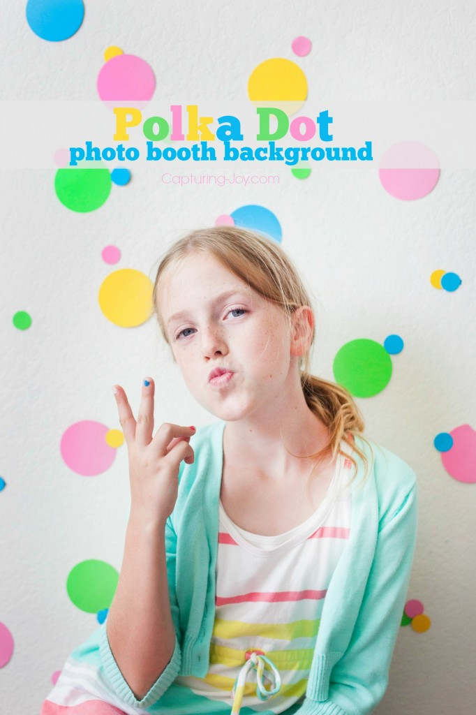 polka dot photo booth background party