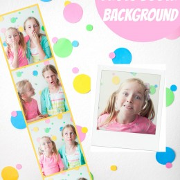 Polka Dot Photo Booth Background