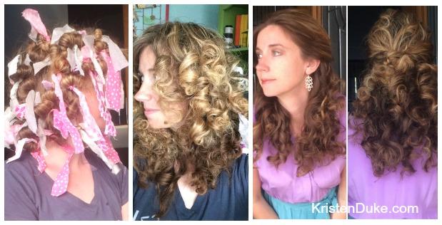 rag tie curls