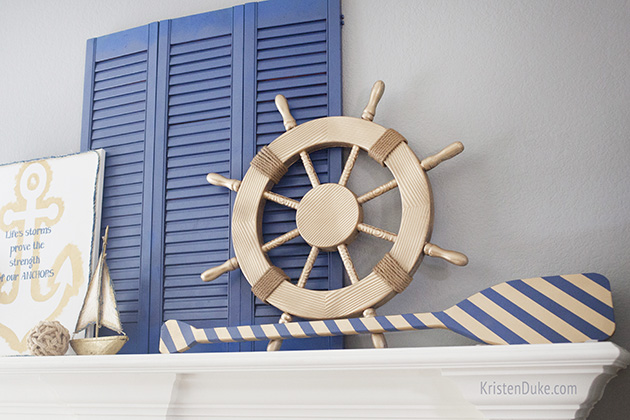 anchor nautical mantel