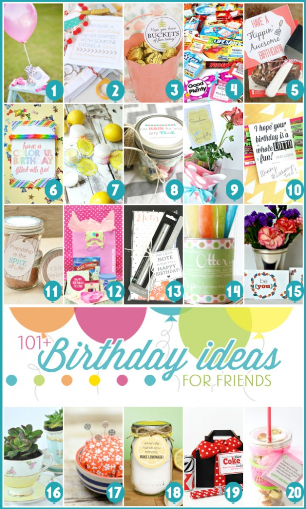 101 Birthday Ideas for Friends! a blog hop on FunkyJunkInteriors.net
