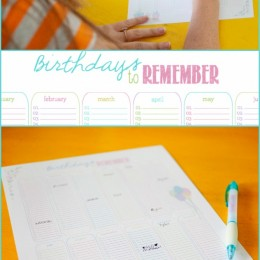 Yearly Birthday Calendar Free Printable