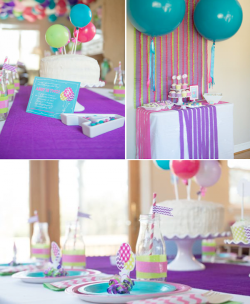 balloon themed birthday party