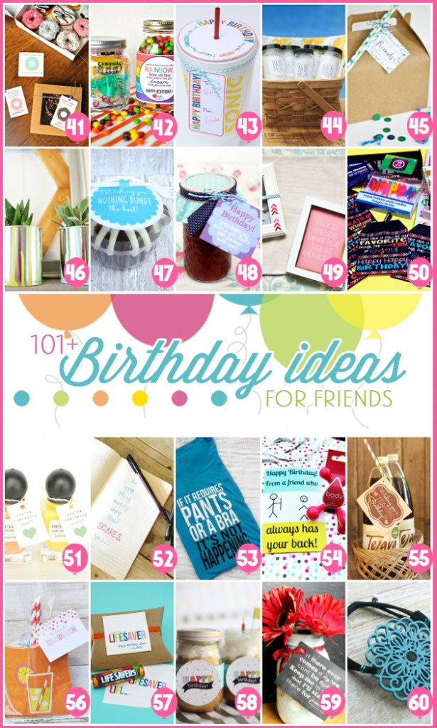 101 easy birthday gift ideas and free printables for Easy presents to make for friends
