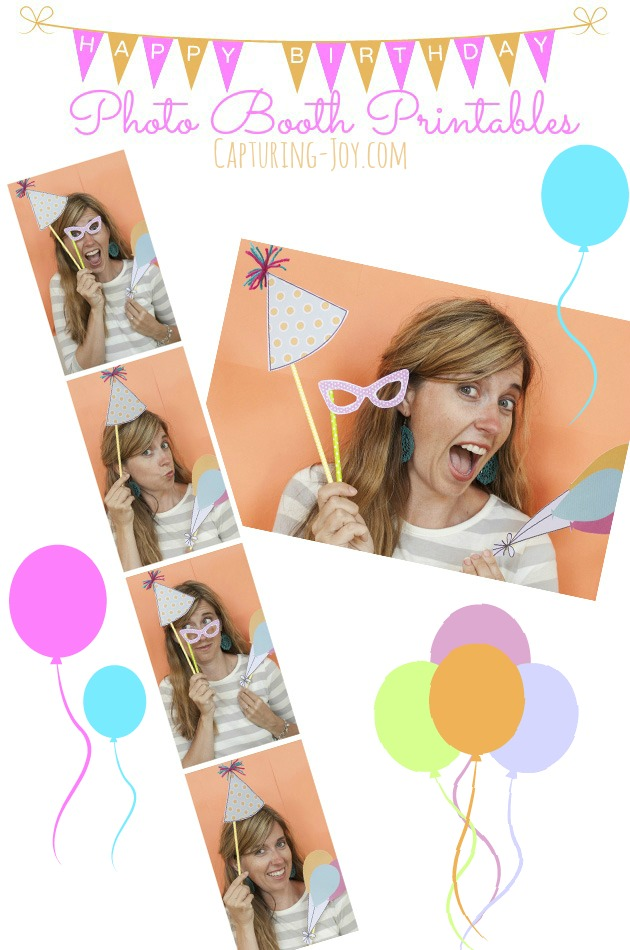 image about Printable Photo Booth Props Birthday referred to as Birthday Photograph Booth Props and Free of charge Printables