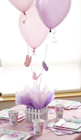 butterfly and balloon centerpieces