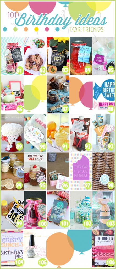 101+ Gift ideas and tons of free printables. Many bloggers share lots of cool ideas!