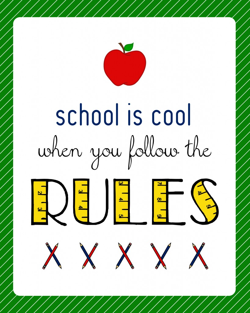 Classroom Decoration Printables Free ~ School is cool teacher gift