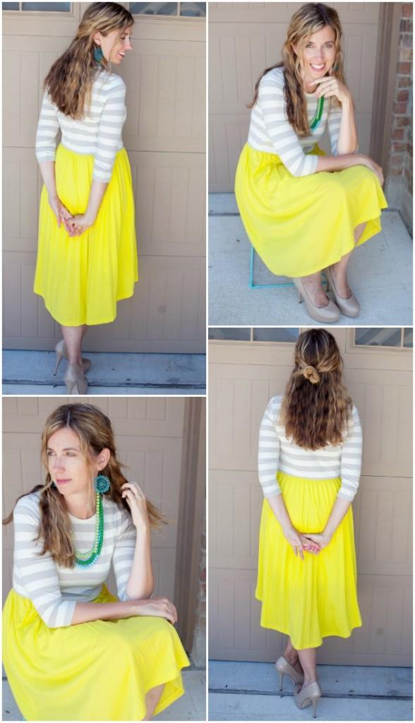 Downeast Basics yellow dress