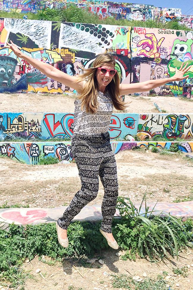 Jumping at graffiti park
