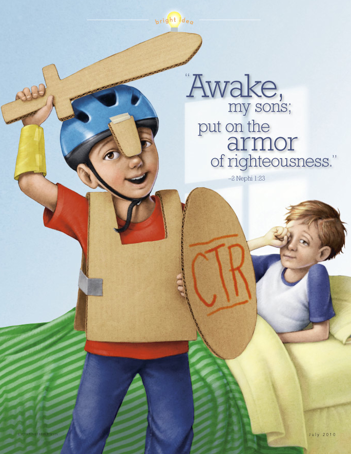 Armor of God cartoon picture for kids