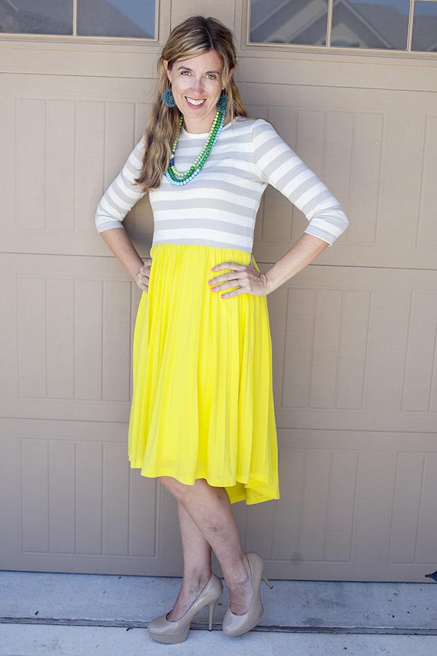 downeast yellow dress