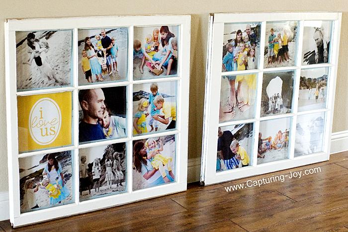vintage window as frames